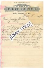 1894 Eddy New Mexico CARLSBAD Post Office William Slaughter JENNIE POTTER teach