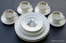 COPELAND SPODE china GLENDALE Chelsea Wicker ~  20 Piece Set 4 x 5 Piece Setting
