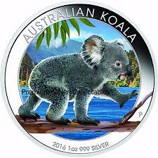 2016 Australia Koala .999 - 1 Ounce Pure Silver Coin - Nice!
