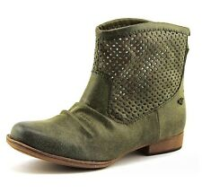 ROXY New Women's US 6 Green Vallerie Faux Leather Perforated Ankle Boots Booties