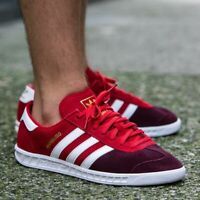 ADIDAS HAMBURG MENS RED LEATHER SUEDE SHOES JEANS CITY BERN GAZELLE S79988 NEW