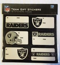 Oakland Raiders Christmas Present Name Labels - Team Gift Stickers - To/From