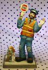 Flambro Emmett Kelly Jr EKJ Clown Figurine School Crossing Guard Dog Whistle