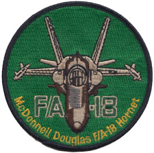 US Navy F/A-18 Green Hornet Fighter Jet Embroidered Patch ** LAST FEW **