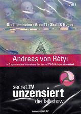 SECRET TV UNZENSIERT  Illuminaten, Skull & Bones AREA 51 - Andreas von Retyi DVD