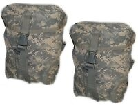SUSTAINMENT POUCHES MOLLE II ACU CAMO US ARMY Set Of 2 Very Good