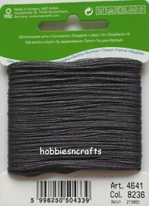 DARK GREY COATS 100% COTTON Thread for Hand Sewing Darning & Mending - 20 Metres