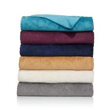 Highgate Manor Velvety Plush Scroll Blanket -  Full/Queen - Plum    3X17H
