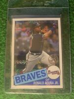 2020 Topps Series 1 RONALD ACUNA JR Braves 1985 Silver Pack Mojo Refractor C4RD5