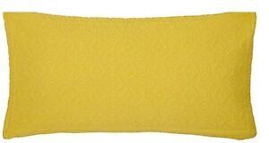 Isana Woven Cushion 100%Cotton Cover Saffron Machine Washable Home Decor