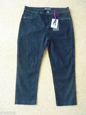 M/&S Classic Sizes 8 10 12 18 24 Cotton Cropped Crop Denim Look Trousers S M L