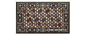 "48"" x 32"" Marble center Table Top semi precious stones Inlay Home decor"