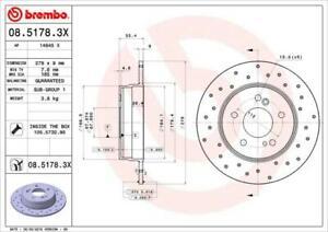 1X BRAKE DISC BREMBO 08.5178.3X