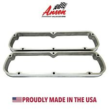 Ford 289, 302, 351W Valve Cover Spacers Polished - Die-Cast Aluminum - Ansen USA