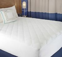 Mattress cover, White Cotton-Poly Hypoallergenic Comfortable Soft - Quilted