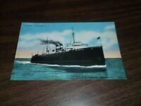 1930's ANN ARBOR RAILROAD COMPANY CAR FERRY UNUSED LINEN POSTCARD