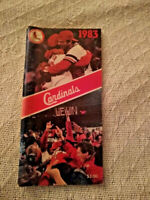 1983 St. Louis Cardinals Press/Radio/Tv Media Guide Simmons & Sutter On Cover