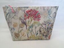 HANDMADE LARGE OILCLOTH MAKE UP TOILETRY BAG - VOYAGE HEDGEROW FABRIC