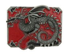 Medieval Dragon Enamel Metal Belt Buckle