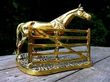Vintage solid brass horse statue very heavy 3.5kg / 7.76 lb home art decoration