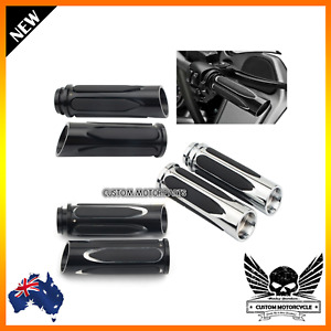 Motorcycle CNC Handgrips 1'' 25mm Harley Touring Softail Dyna LiveWire FXDLS