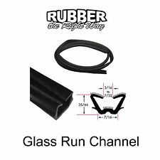 """Universal Window Run Channel - Flexible - 35/64"""" Tall 7/16"""" Wide at Base"""