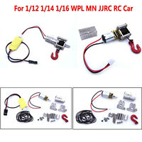 Metal Winch & Control Wire Upgrade Parts For 1/12 1/14 1/16 WPL MN JJRC RC Car