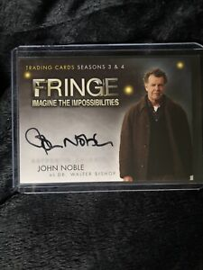 2012 Cryptozoic Fringe Seasons 3 & 4 John Noble Autograph A3 Walter Bishop Auto!