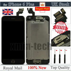 Black For iPhone 6 Plus Screen Replacement LCD Touch Digitizer Button Camera UK