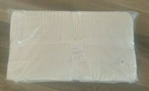 Pottery Barn Ultra Soft Handcrafted tencel FULL QUEEN quilt NATURAL WHITE