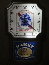 NEW ANTIQUE VTG 60's PABST BLUE RIBBON BEER PENDULUM MOTION CLOCK LIGHT BAR SIGN