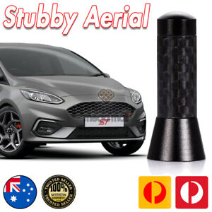 Antenna / Aerial Stubby Bee Sting for Ford Fiesta Black Carbon 3.5 CM