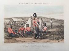 Ackermann's Chobham Scenes 1853 Aquatint - 2nd North British Dragoons