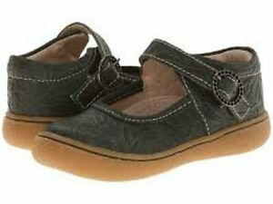 New LIVIE & LUCA Shoes Clove Olive Green Embossed Toddler 9