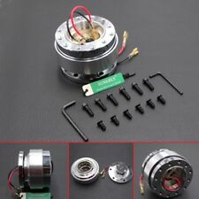 Car Steering Wheel Quick Release Hub Adapter Snap Off Boss Kit Silver Universal