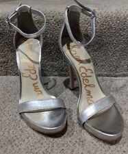 09b30320469cc2 EUC Sam Edelman Women s Ariella Ankle Strap Sandal Shoe Metallic Silver  size 7