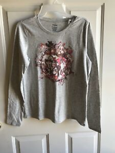NWT women's  misses Sonoma Graphic Long Sleeve T- Shirt tops Paris size small