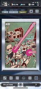 Topps Star Wars Digital Card Trader Silver Gilded Retro Stormtrooper Insert