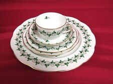 60 Piece Herend Persil Green Parsley And Black Vines On White China Set - MINT