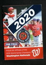 Harrisburg Senators--Soto--Barrett--2020 Schedule--Pyrotechnics--Nationals