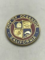 City Of Oceanside California Lapel Pin Lapel Pin County Seal Tack USA State CA