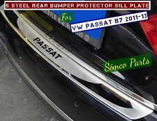 Stainless Steel Rear Bumper Protector Sill Plate for VW Passat B7 2011-13