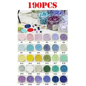 190pcs/Bottle Sealing Wax Beads Card Stamp For Retro Seal Invitation Envelope