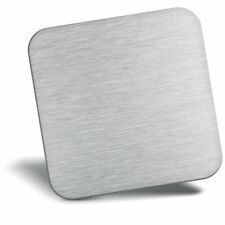 Awesome Fridge Magnet - Cool Light Grey Metal Effect Cool Gift #3731