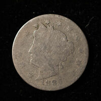 1886 LIBERTY 'V' NICKEL ** AFFORDABLE KEY DATE                  F