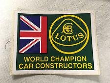 "Lotus F1 team sticker, ""World Champion Car Constructors"""