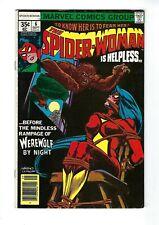 SPIDER-WOMAN # 6 (WEREWOLF BY NIGHT app. Cents Issue, SEPT 1978), VF+