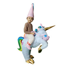 Inflatable Unicorn Costume for Kid Rider Halloween Birthday Cosplay Party Dress