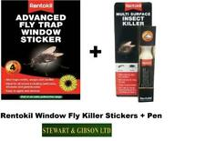 RENTOKIL Multi Surface Insecte Tueur Stylo & 4 x Window Fly Killer stickers