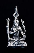 Pendentif Lord Shiva en Argent 925 9.5 g  Amulette Bijoux dieu Hindou K103 25438